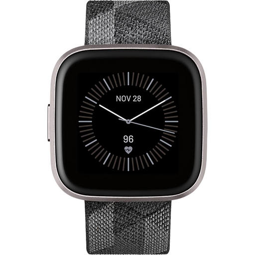 Fitbit FB507GYGY Versa 2 Special Edition Health and Fitness Smartwatch - Smoke/Mist Grey