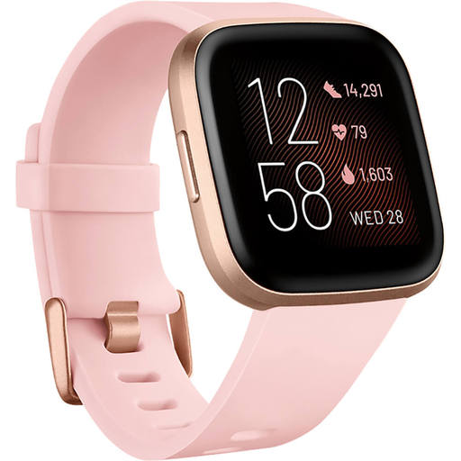 Fitbit FB507RGPK Versa 2 Health and Fitness Smartwatch - Copper Rose