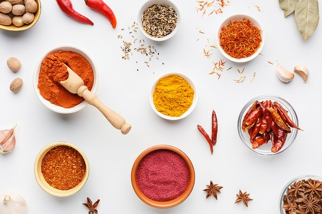 ingredients, spices