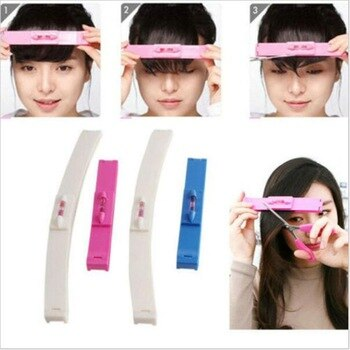 100 Set New Women Girl Hair Trimmer Fringe Cut Tool Clipper Comb Guide For Cute Hair Bang Level Ruler Hair Accessories