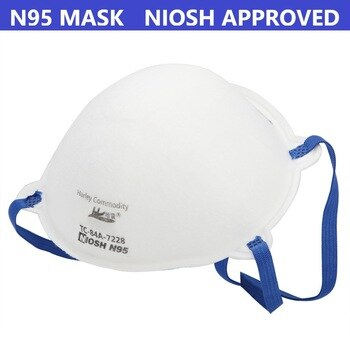 20 Pcs N95 Masks with NIOSH Approval Protective Respirator Anti Dust Face Mask Reuseable Mascarillas Tapabocas