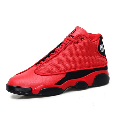 High-Cut Upper Lace-Up Round Toe Trendy Mens Basketball Shoes