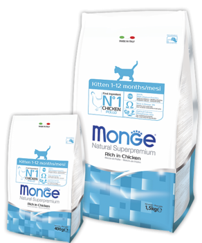 Monge cat kitten food for kittens, 10 kg