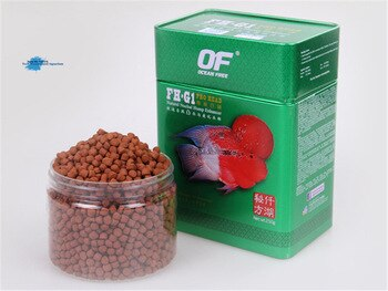 Ornamental fish feed for Flower horn head up fish food OF FH-G1 500g professional protruding head