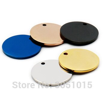 Wholesale 100Pcs Stainless Steel Round For Dog Tag Pet ID Tags Name Engravable Dog Tags Name Pendant Dog ID Tag Necklace Jewelry