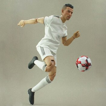 Collectible 1/6 Scale Football Star Action Figures RONALDO Doll Soccer Club 30cm High Model Display Souvenir Gifts
