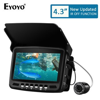 "Eyoyo EF43A 20M Fish Finder 4.3"" 1000TVL Underwater Ice Carp Fishing Camera for Winter Sea Fishing Tackle Accessories Pesca"