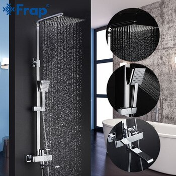 Frap Shower Faucets Top Quality Contemporary Bathroom Shower Faucet Bath Taps Rainfall Shower Head Set Mixer Torneira