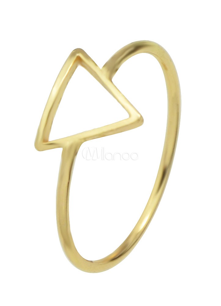 Gold Women's Rings Alloy Geometric Triangle Shape Engagement Rings
