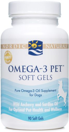Omega-3 Pet Soft Gels For Dogs 180 Soft Gels by Nordic Naturals