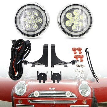 2X White For MINI Led Rally Lights LED DRL Daytime Running Driving Lamp For Mini Cooper R50 R52 R53 2001-2006