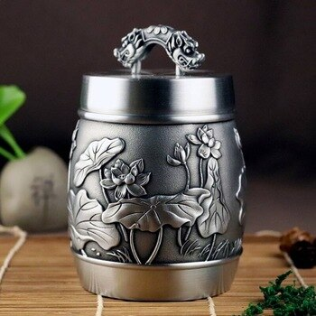 Customization Urns For Ashes Urn Funeral Cremation Hand Carved Beautiful Embossed Pure Tin 97% LeadFree Pewter Handmade In China