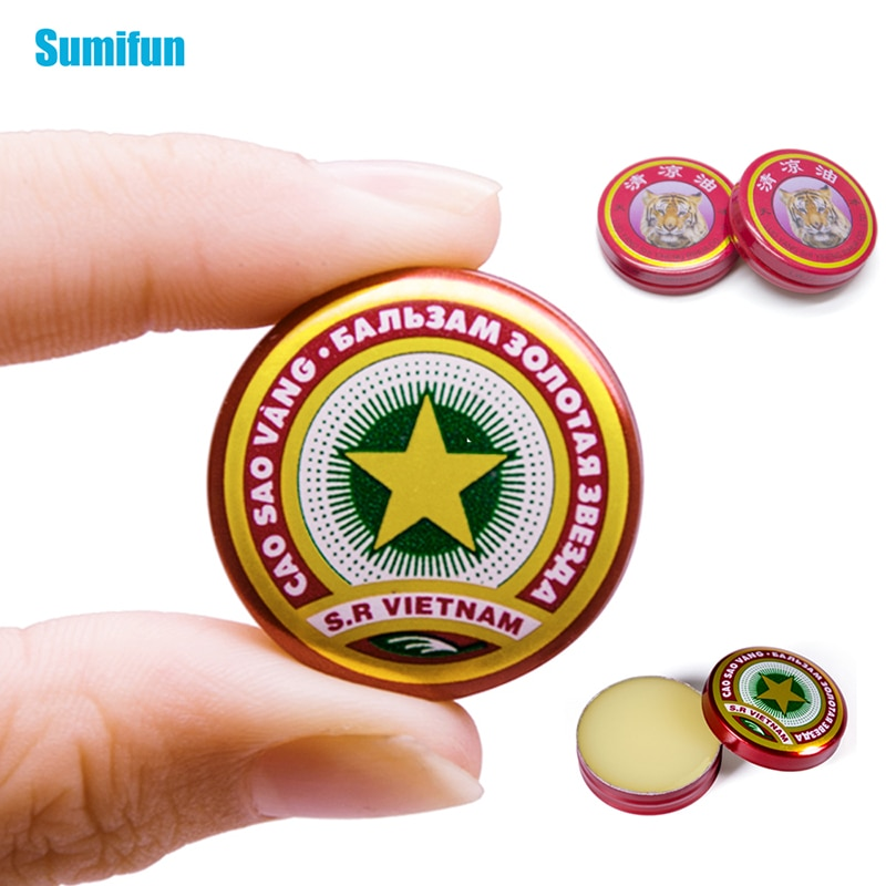 2 Types of Tiger Balm and Vietnam Gold Tower Ointment Cold Headache Stomachache Dizziness Heat Stroke Insect Stings Herbal Oil