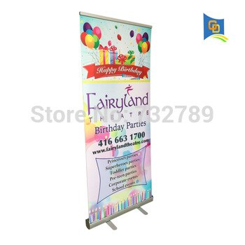 34.5inch wide Free shipping (USA) Wholesale 8pcs Aluminum Roll up Display Banner Stand for Advertising BST1-4(only frame)
