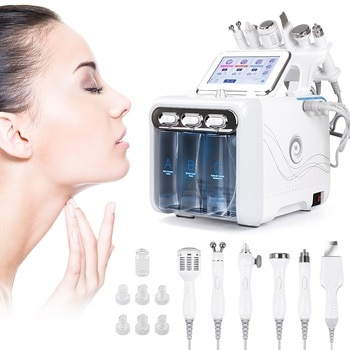 6 in1 H2-O2 Hydro Dermabrasion RF Bio-lifting Spa Facial Ance Pore Cleaner Hydro Microdermabrasion Machine Skin Care Tools