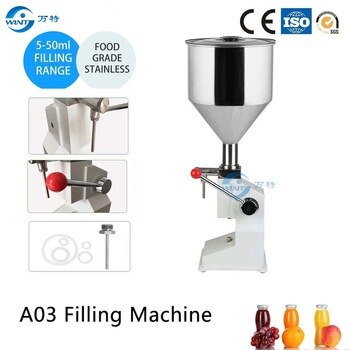 A03 Manual Liquid Filling Machine For Vinegar Tomato Paste Sauce Ketchup (5~50ml) Cream Shampoo Honey Butter Juice Oil Filler