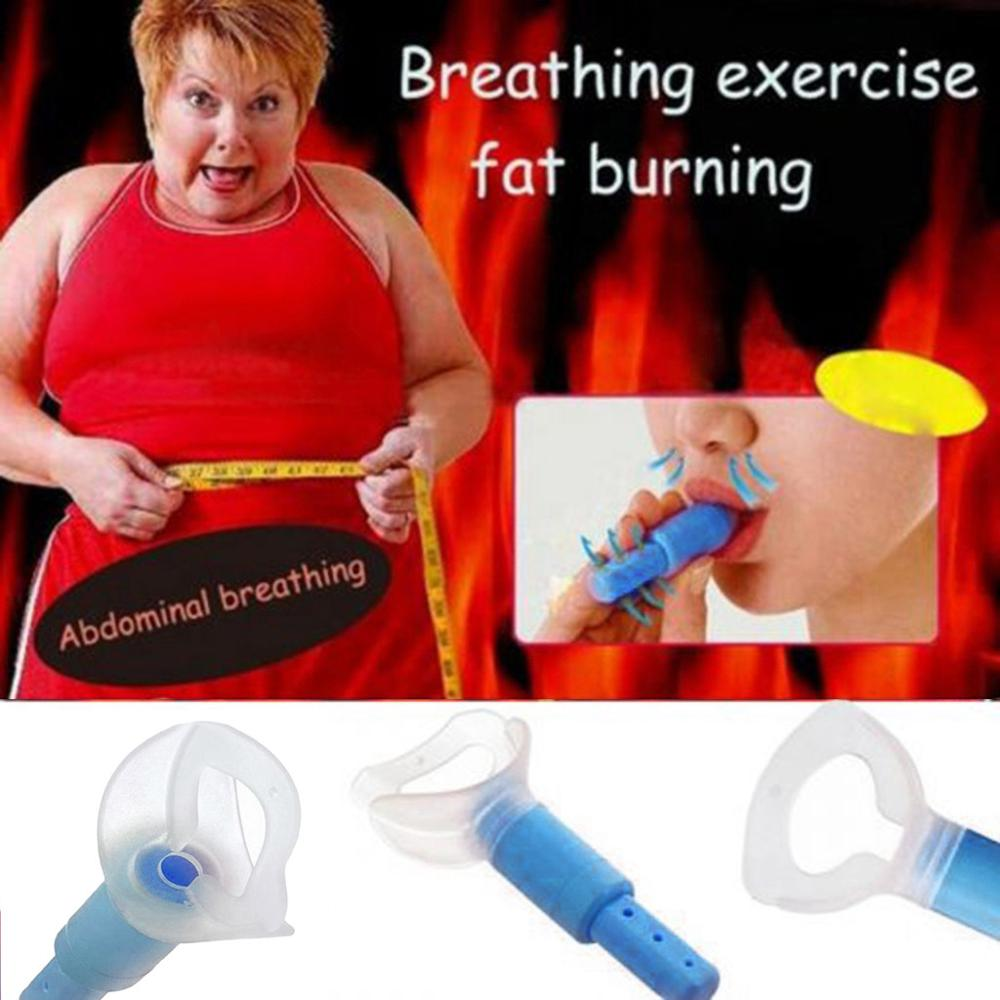 Abdominal Respirator Trainer Breathing Exerciser Slimming Waist Face Loss Weight Deep Belly Muscles Increases Metabolism