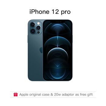 "Authentic Original Brand New iPhone 12 Pro/Pro Max 5G 6.1/6.7"" XDR Display with Original Adaptor as Gift IOS 14 Smartphone"