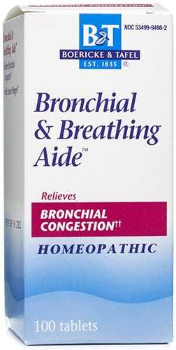 Bronchial and Breathing Aide 100 Tablets by Boericke and Tafel