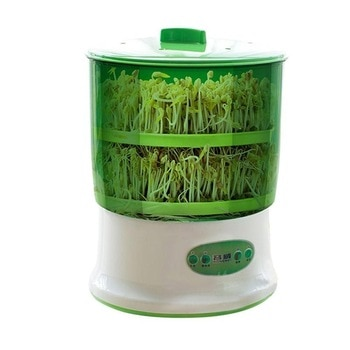 DIY Bean Sprout Maker Thermostat Green Vegetable Seedling Growth Bucket Automatic Bud Electric Sprouts Germinator Machine