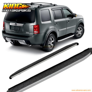 Fit For Honda Pilot 2009-2013 2014 Running Board Side Step Rail Bars Black Silver Set USA Domestic Free Shipping