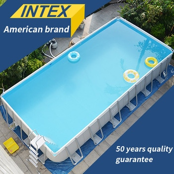 INTEX Family Bracket Swimming Pool thickening children's home large pools adult collapsible pool fish pond baby play commercial