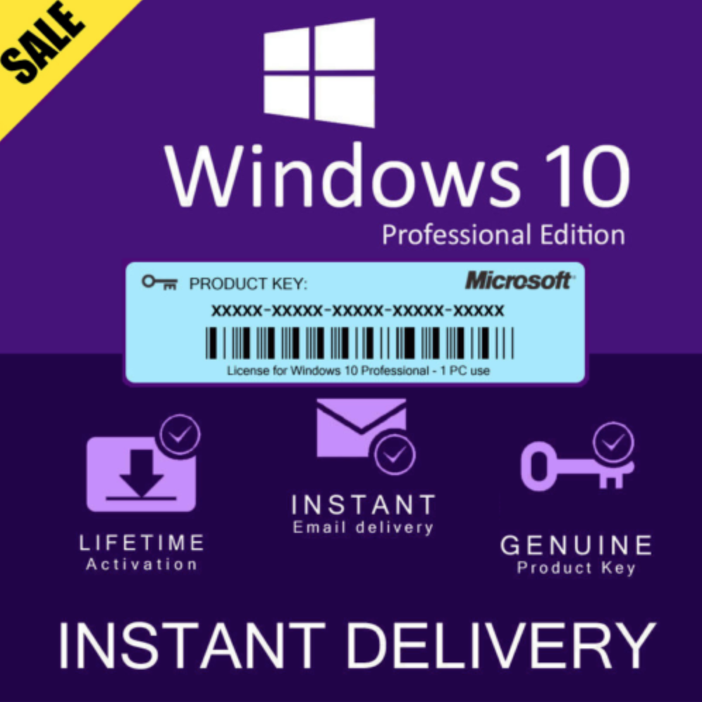 Microsoft Windows 10 PRO Professional Genuine license key-instantly 100% working best Deal