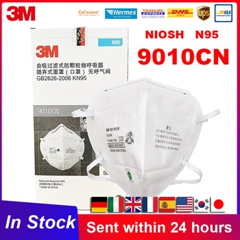 N95 Mask 3M 9010 9010CN KN95 Mascarilla Particulate Protective Safety Disposable Headband Face Mouth Mask 3M Original In Stock