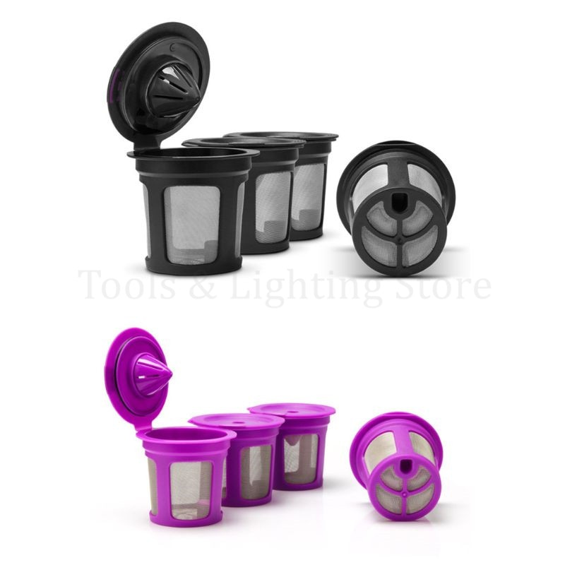 Refillable Coffee Filter Cup Reusable Coffee Pod Filled Capsule Compatible With Keurig 2.0 1.0 K Cup Coffee Makers