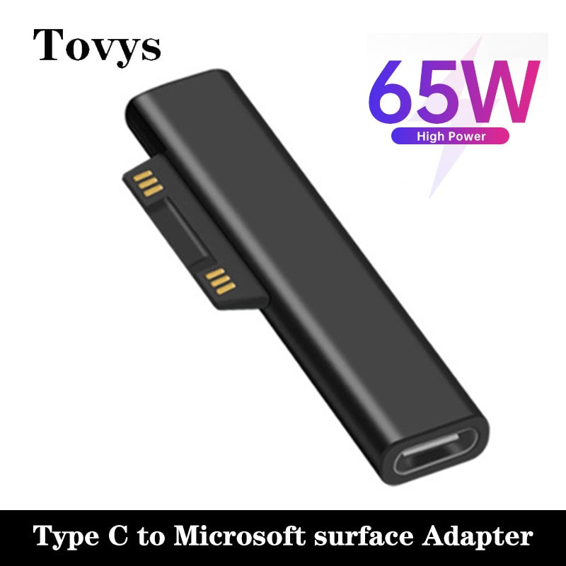 USB Type C PD Converter 3A Fast Charging Type-C Adapter For Microsoft Surface Pro 3 4 5 6 Go Book 1 2 Laptop Charger Converter
