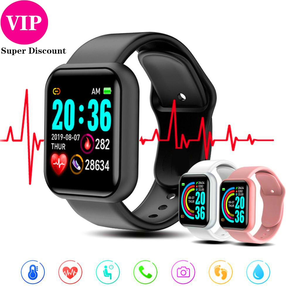 Y68 Smartwatch Women Men Sport Bluetooth Smart Band Heart Rate Monitor Blood Pressure Fitness Tracker Bracelet for Android IOS