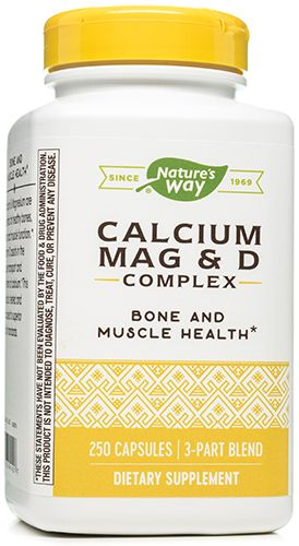 Calcium Mag and D 250 Capsules by Nature's Way