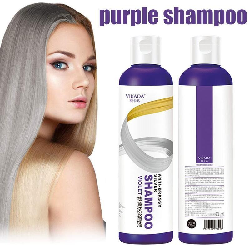 Professional Blonde Bleached Highlighted Purple Shampoo 275ml Long Lasting Effective Remove Yellow Shampoos Not Hurt Hair 278ml