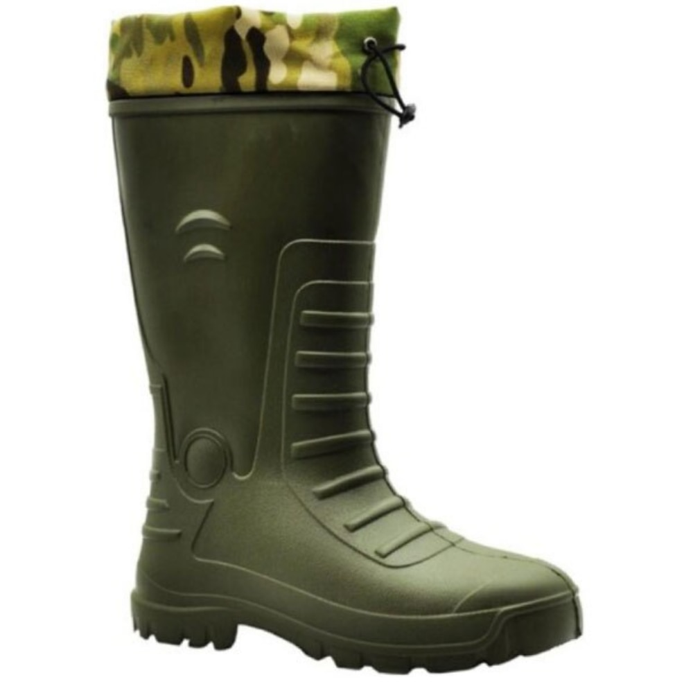 Winter Camouflage Snow Men Boots Rain Shoes Waterproof With Plush Warm Male Casual Mid-Calf Work Fishing Boot Made in Turkey