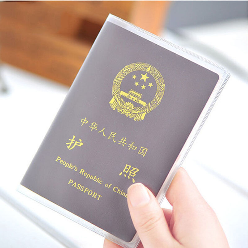 1PCS Silicone transparent waterproof dirt ID Card holders passport cover business card credit card bank card holders 9x 13.1cm
