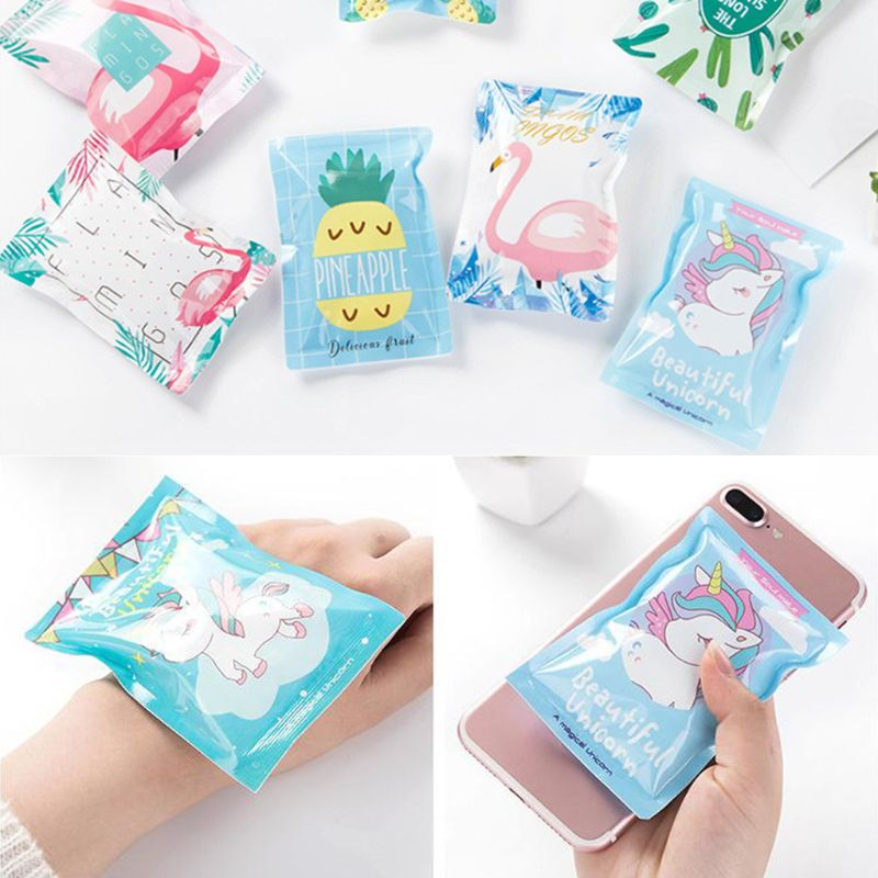 Creative Cartoon Portable Mini Reusable Ice Pack Multifunction Cold Gel Insulated Cooler Bag for sprain fever skincare beauty