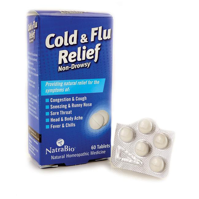 NatraBio Cold and Flu Relief 60 Tabs Cold and Flu