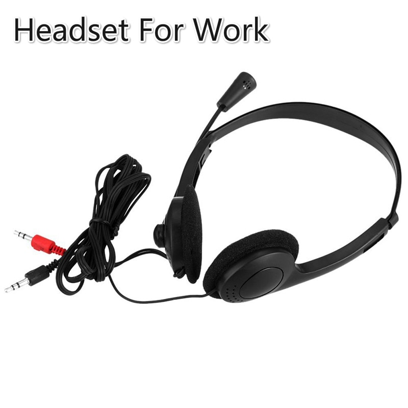 Newest For Call Center Office Customer Service Stereo Noise Reduction Headset With Microphone Adjustable Headband Phone Headset