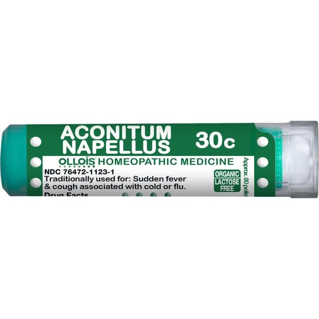 Ollois Homeopathic Aconitum Napellus 30c 80 Pellets Cold and Flu