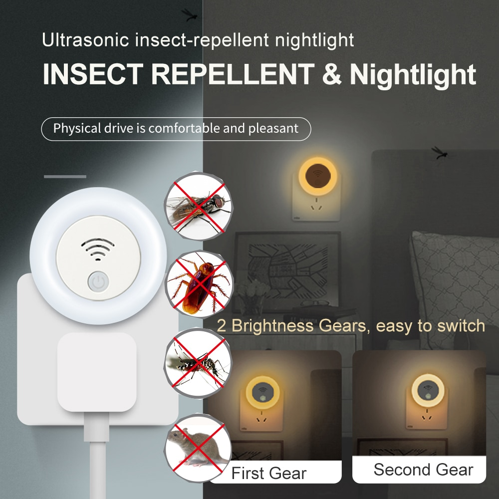 Ultrasonic Pest Repeller Electronic Anti Rodent Insect Reject Killer Indoor Rodent Cockroach Mosquito Repellent Bed Bug Defender