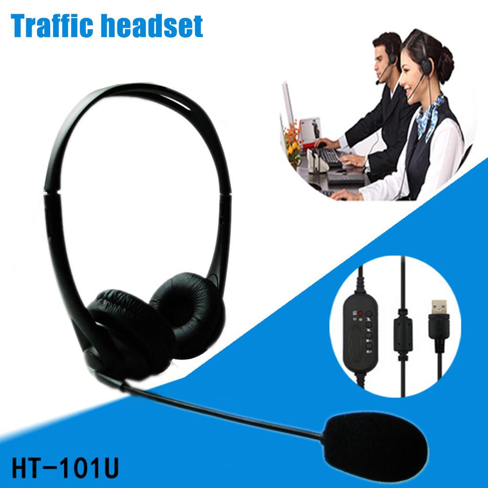 USB Microphone Headset Noise Cancelling Earphone with Mini Mic Headphone for Office Customer Service for Gaming Online Learning